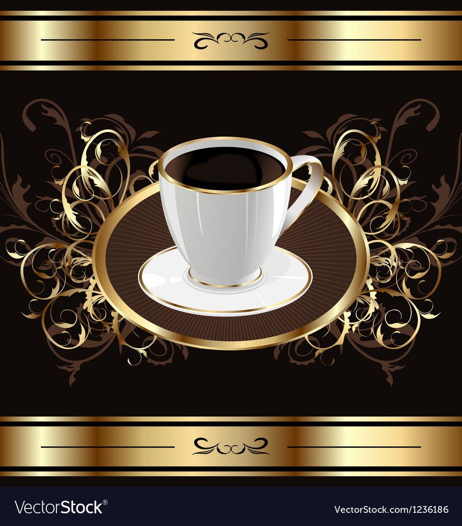 Vintage background for packing coffee coffee cup vector | Price: 1 Credit (USD $1)