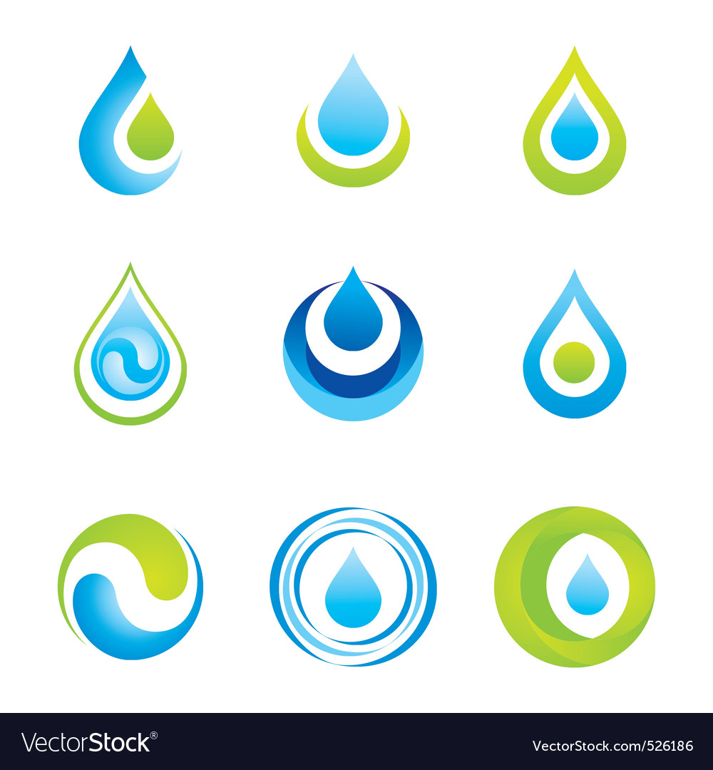 Water symbols vector | Price: 1 Credit (USD $1)