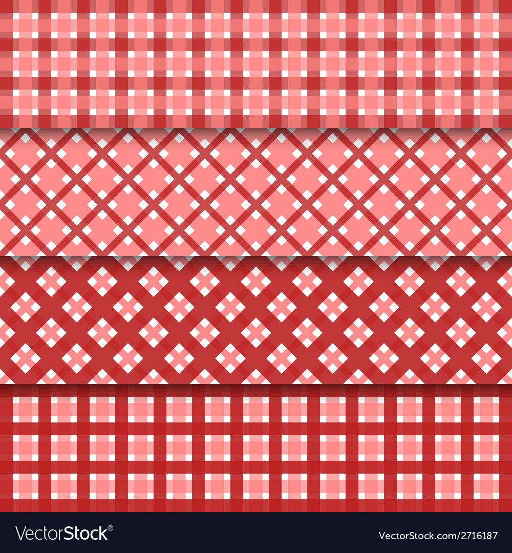Abstract seamless set background with red shapes vector | Price: 1 Credit (USD $1)