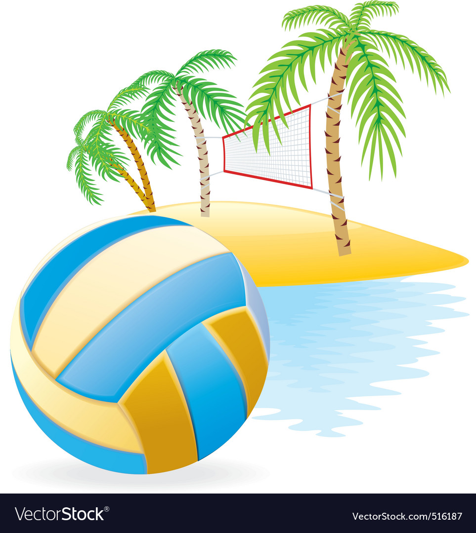 Beach volley island vector | Price: 3 Credit (USD $3)