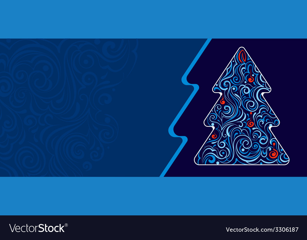 Christmas tree with frozen pattern vector | Price: 1 Credit (USD $1)