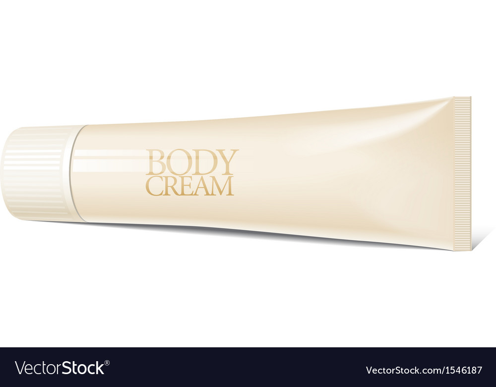 Cool realistic blank tube for cosmetics ointments vector | Price: 1 Credit (USD $1)