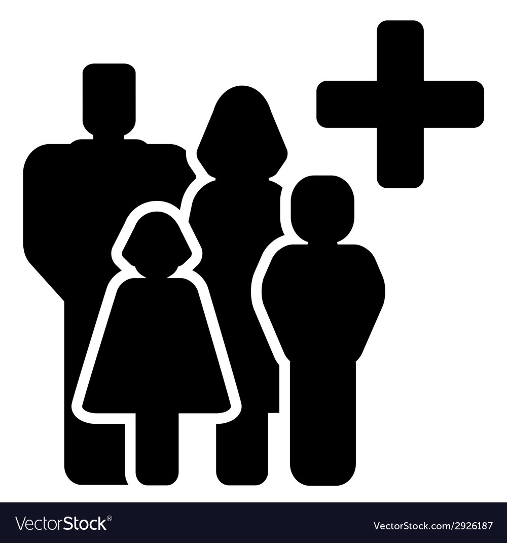 Family medical care icon vector | Price: 1 Credit (USD $1)