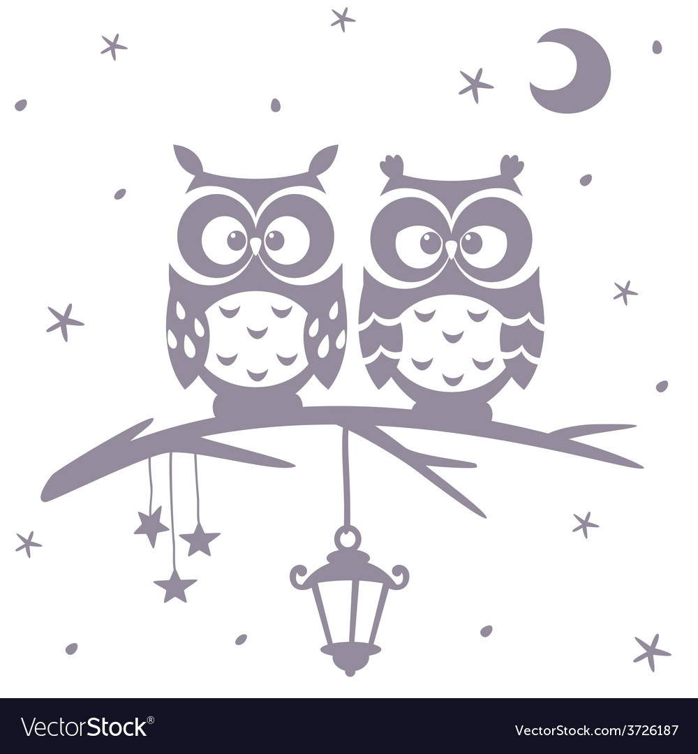 Owl silhouette vector | Price: 1 Credit (USD $1)