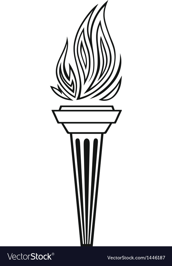 Symbol torch vector | Price: 1 Credit (USD $1)