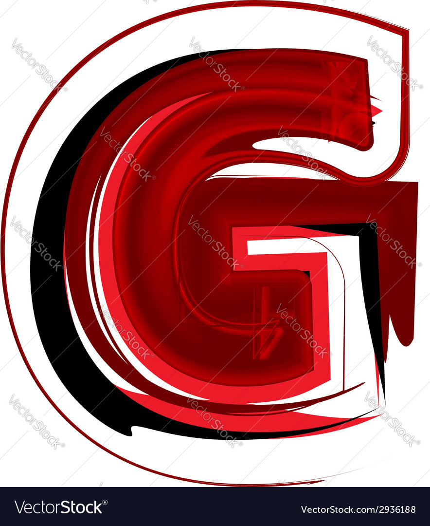 Artistic font letter g vector | Price: 1 Credit (USD $1)
