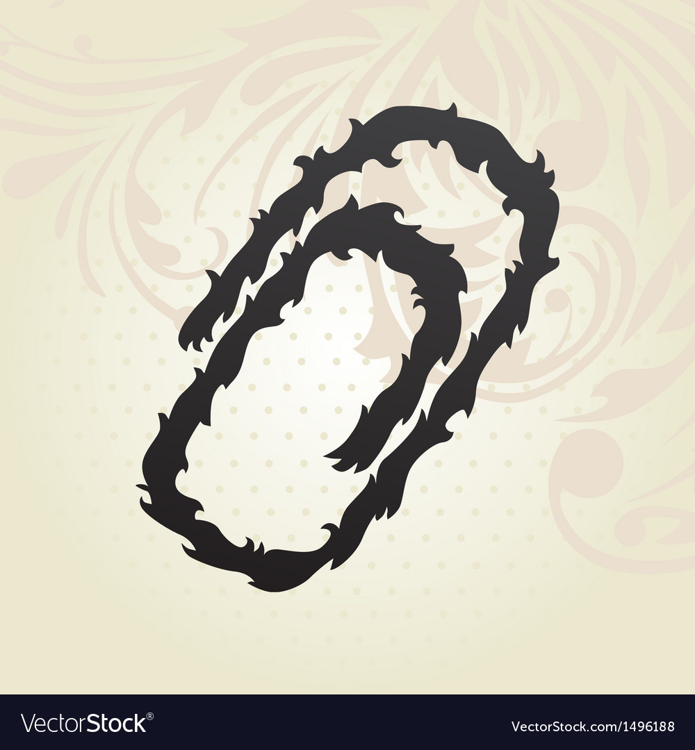 Decorative paper clip vector   Price: 1 Credit (USD $1)