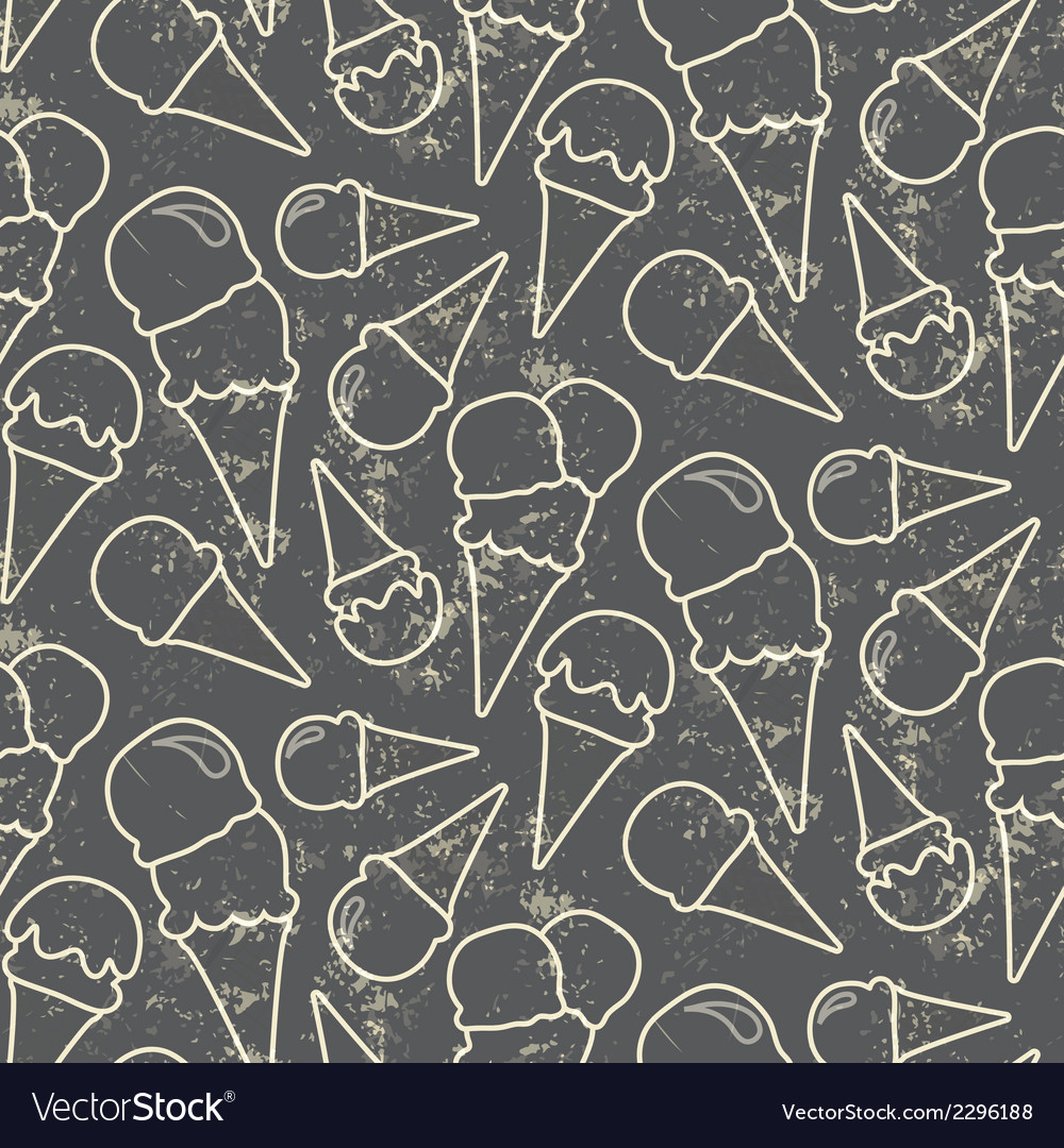Grunge seamless pattern with ice cream cons on vector | Price: 1 Credit (USD $1)