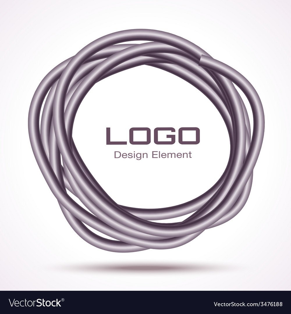 Hand drawn thick ware circle logo design element vector | Price: 1 Credit (USD $1)