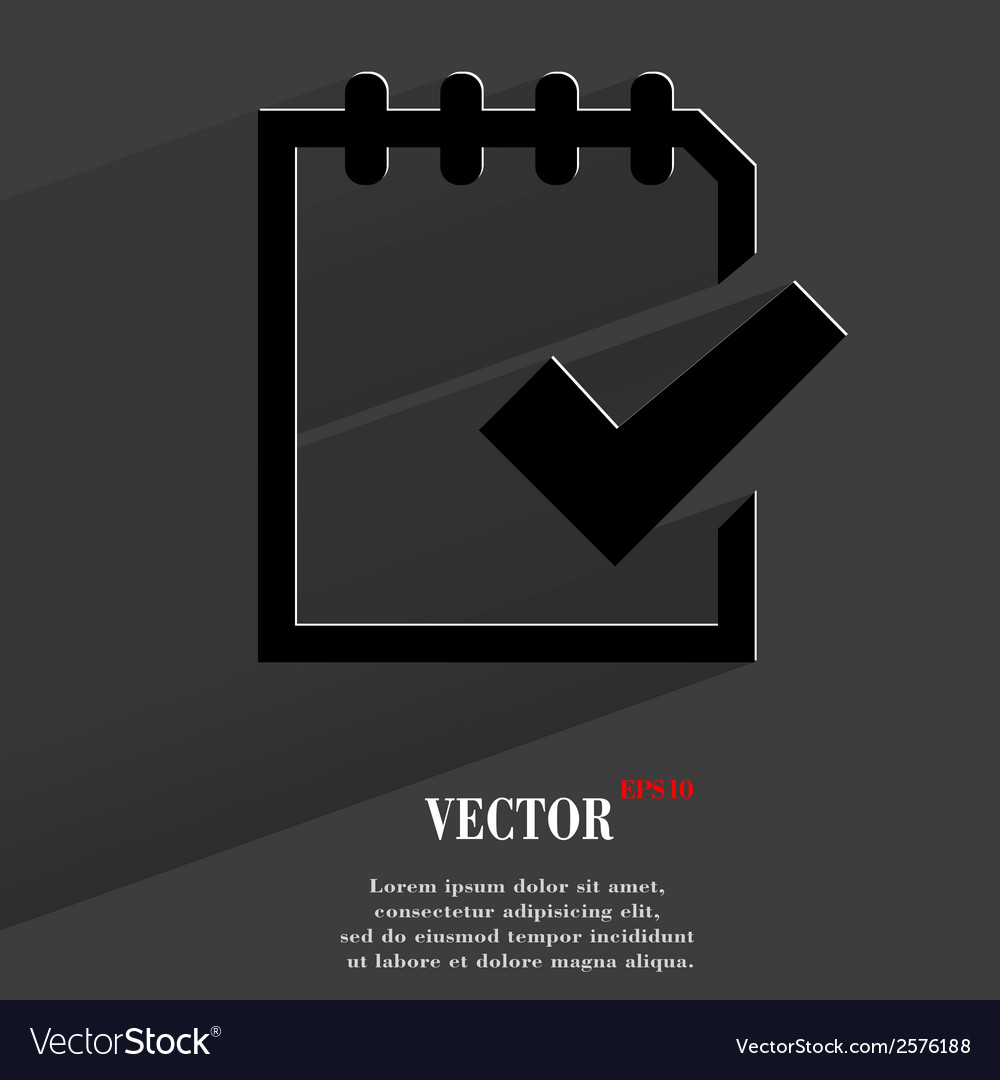 Notepad paper documents flat modern web button vector | Price: 1 Credit (USD $1)