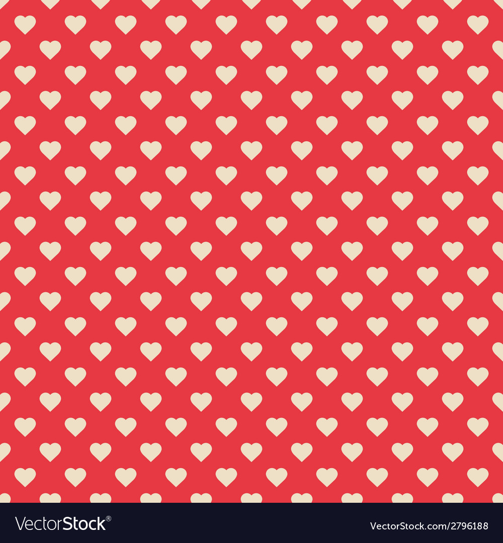 Seamless pattern red with hearts vector | Price: 1 Credit (USD $1)
