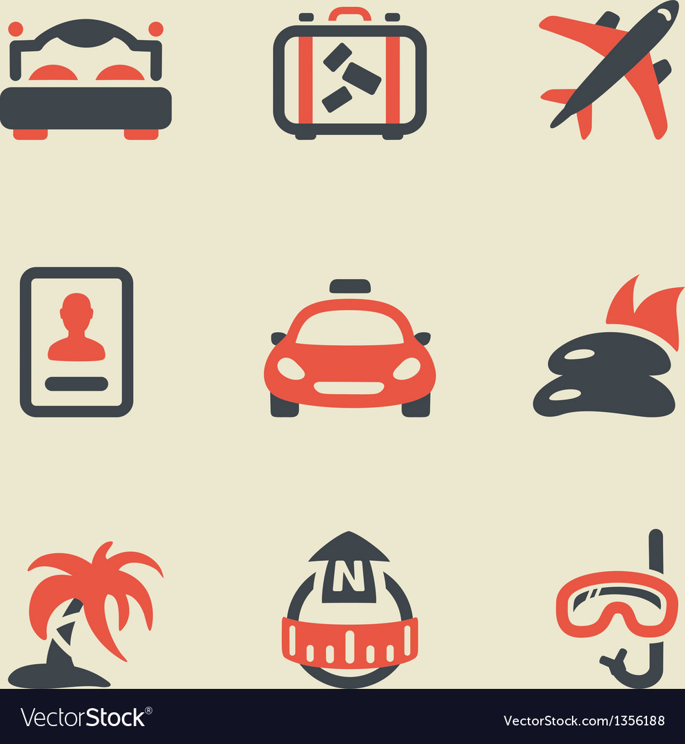 Travel black and red vector | Price: 1 Credit (USD $1)