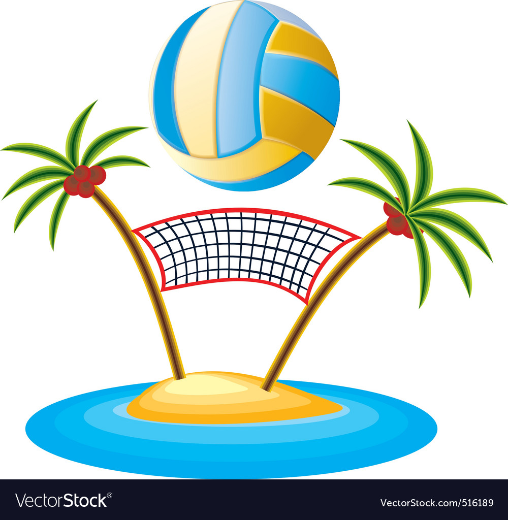 Beach volleyball vector | Price: 3 Credit (USD $3)