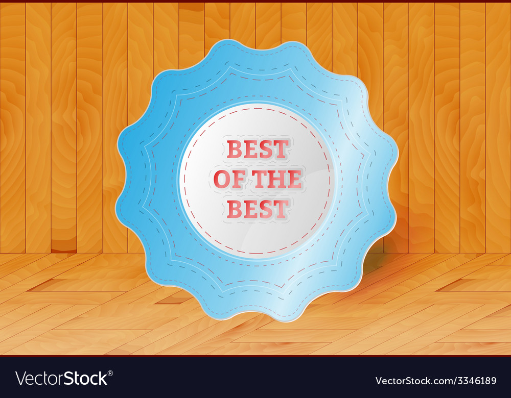 Best of the best stamp vector   Price: 1 Credit (USD $1)