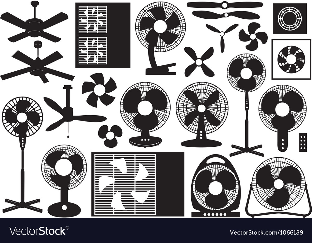 Different ventilator set vector | Price: 1 Credit (USD $1)