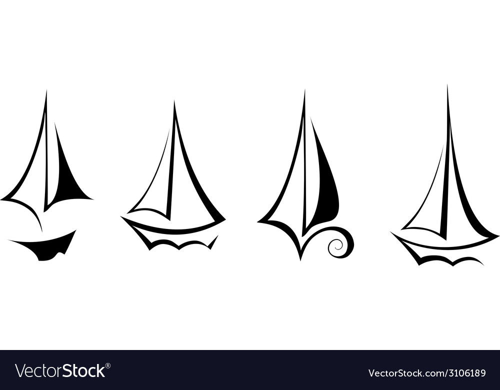 Flat design sailing yacht boat transportation icon vector | Price: 1 Credit (USD $1)