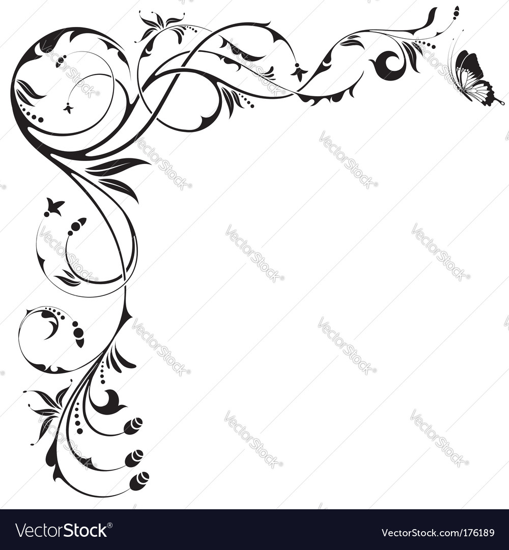 Floral border vector | Price: 1 Credit (USD $1)