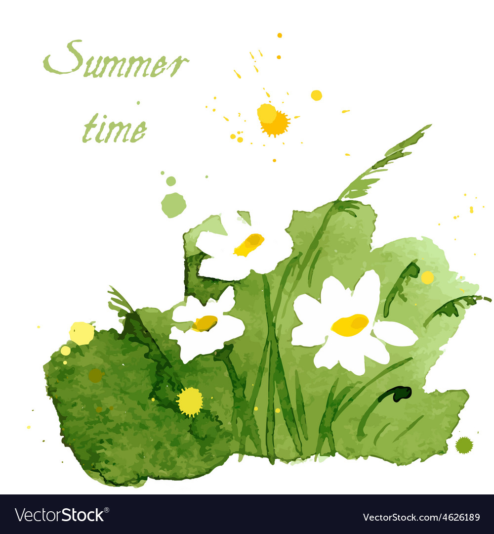Green floral summer background vector | Price: 1 Credit (USD $1)