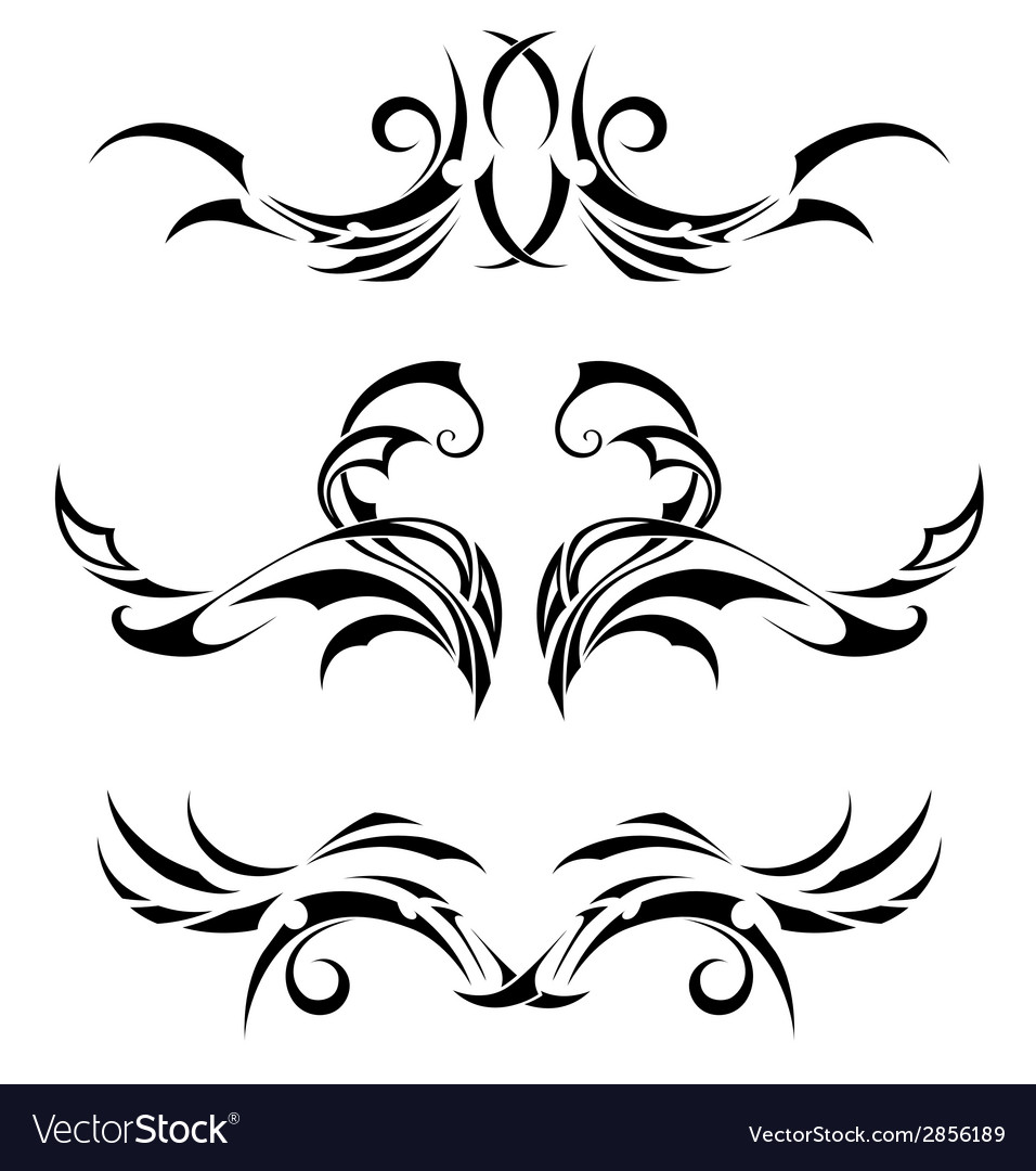 Set tribal tattoos vector | Price: 1 Credit (USD $1)