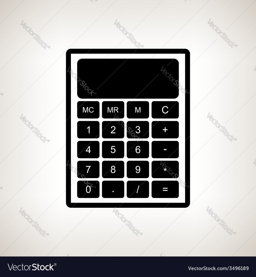 Silhouette calculator on a light background vector | Price: 1 Credit (USD $1)