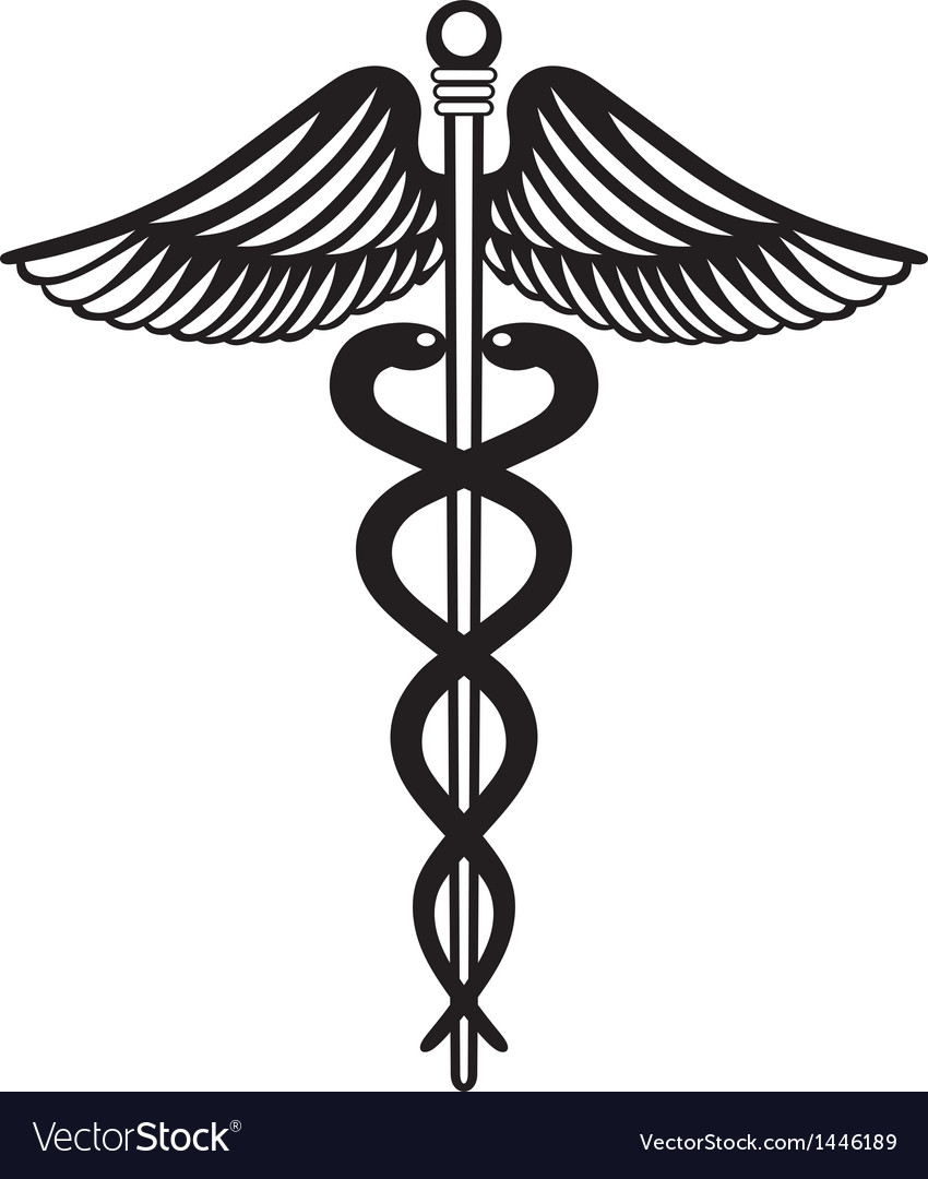 Symbol medical caduceus vector | Price: 1 Credit (USD $1)