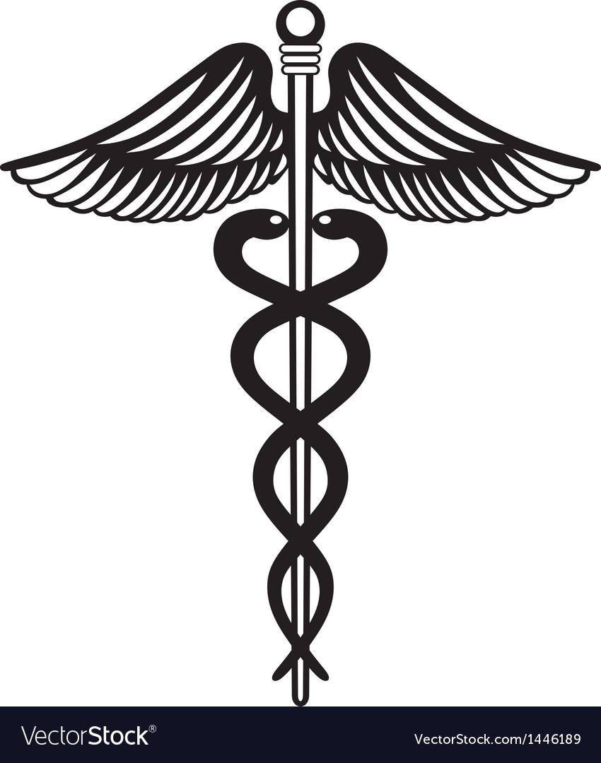 Symbol medical caduceus vector   Price: 1 Credit (USD $1)