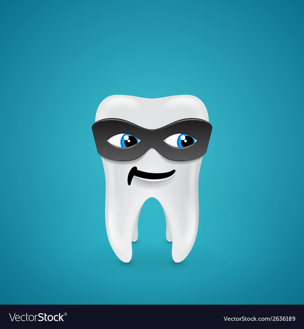 Tooth in mask vector | Price: 1 Credit (USD $1)