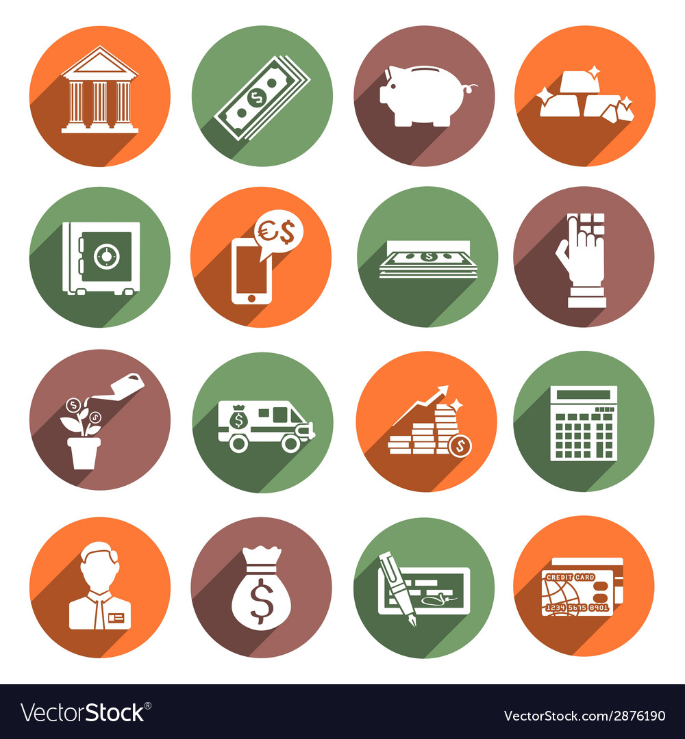 Bank service icons vector | Price: 1 Credit (USD $1)