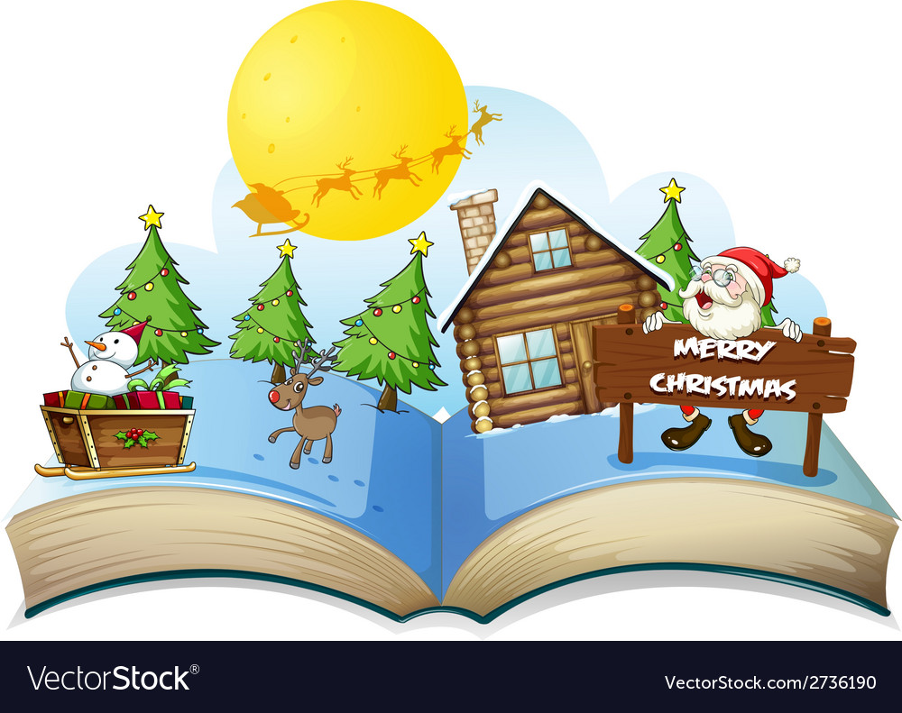 Chirstmas book vector | Price: 1 Credit (USD $1)