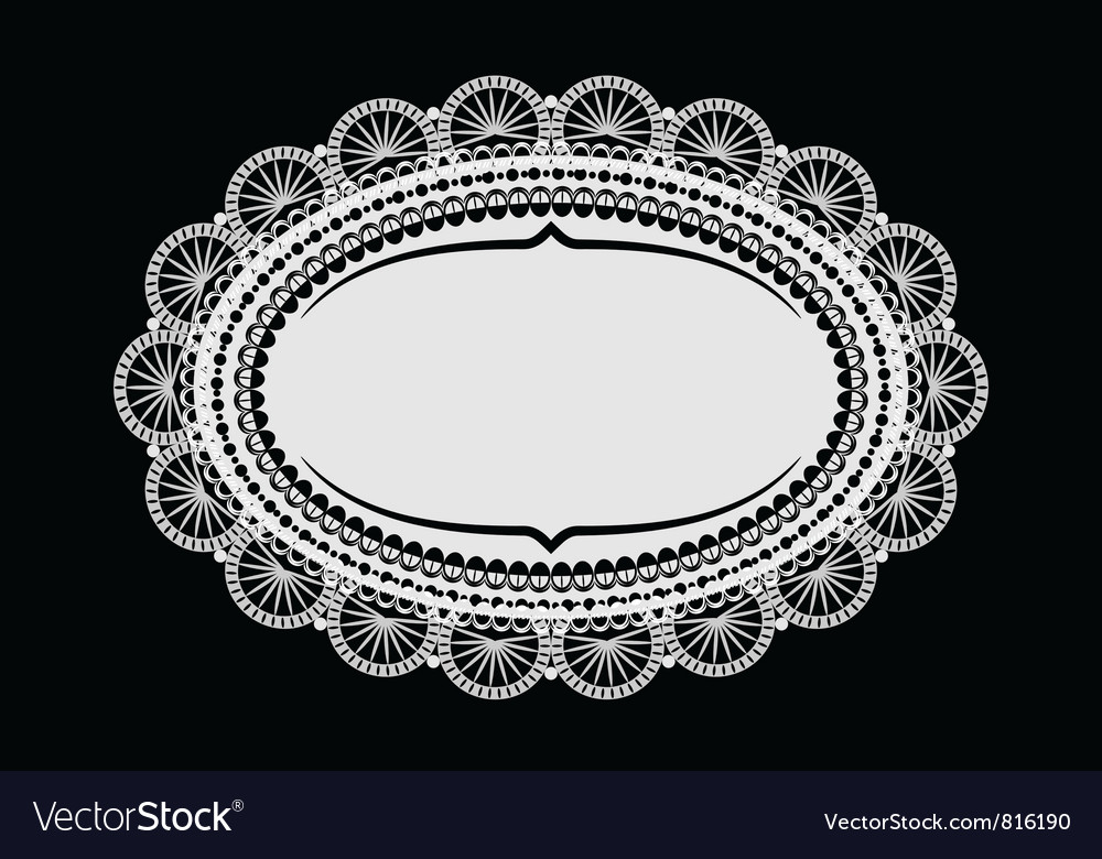 Doily mat vector | Price: 1 Credit (USD $1)