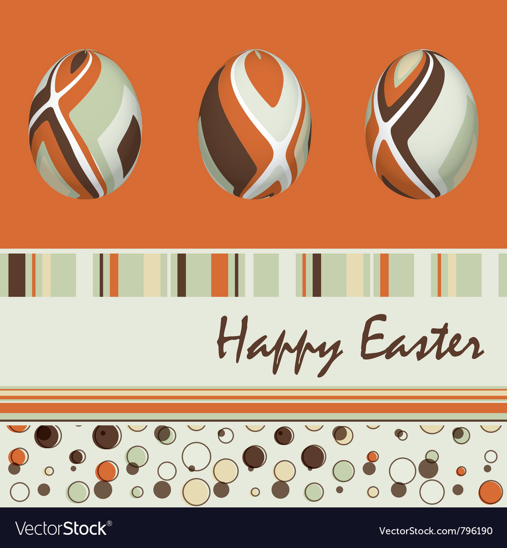 Easter card with eggs vector | Price: 1 Credit (USD $1)