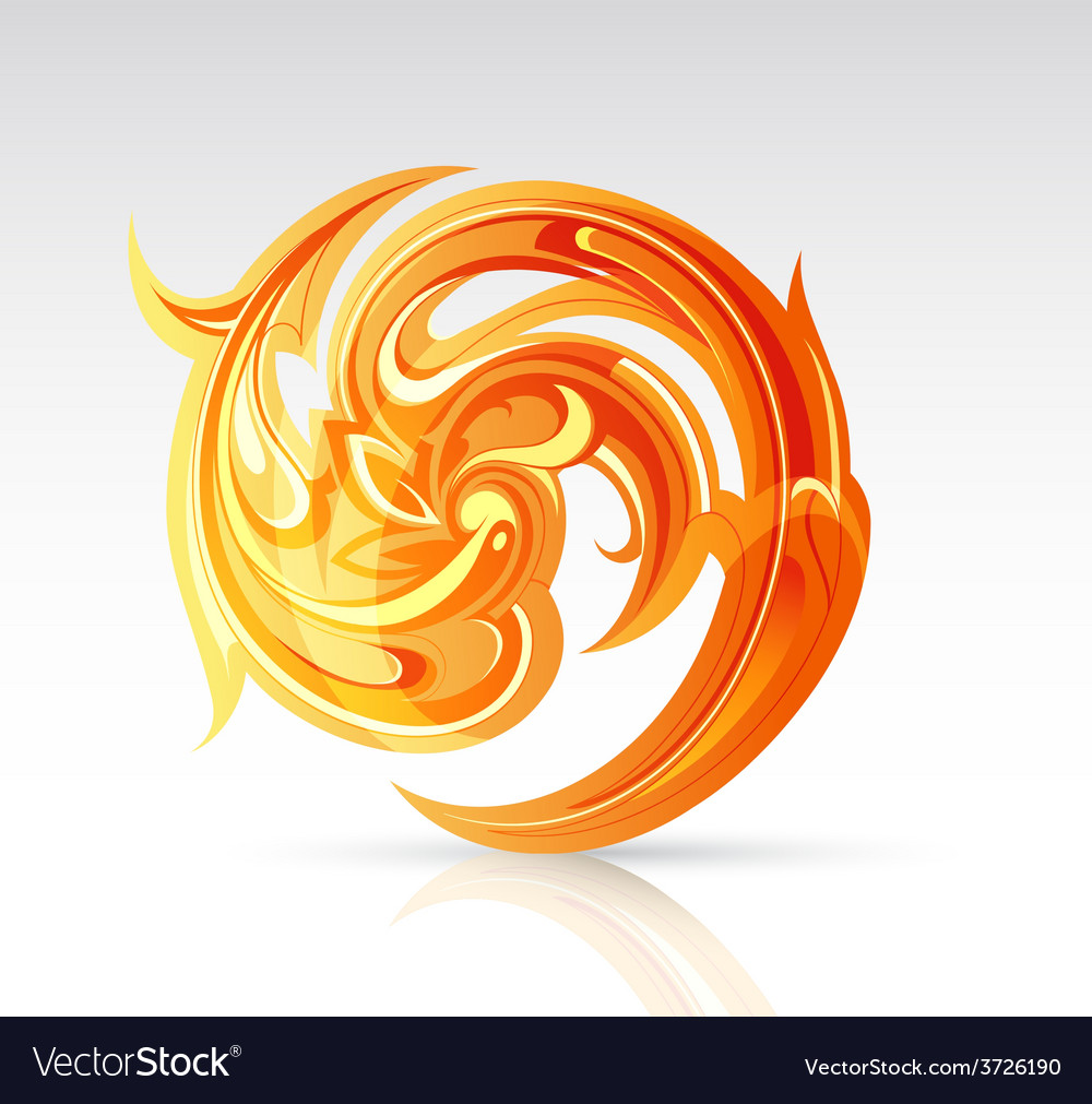 Fire flame as design element vector | Price: 1 Credit (USD $1)
