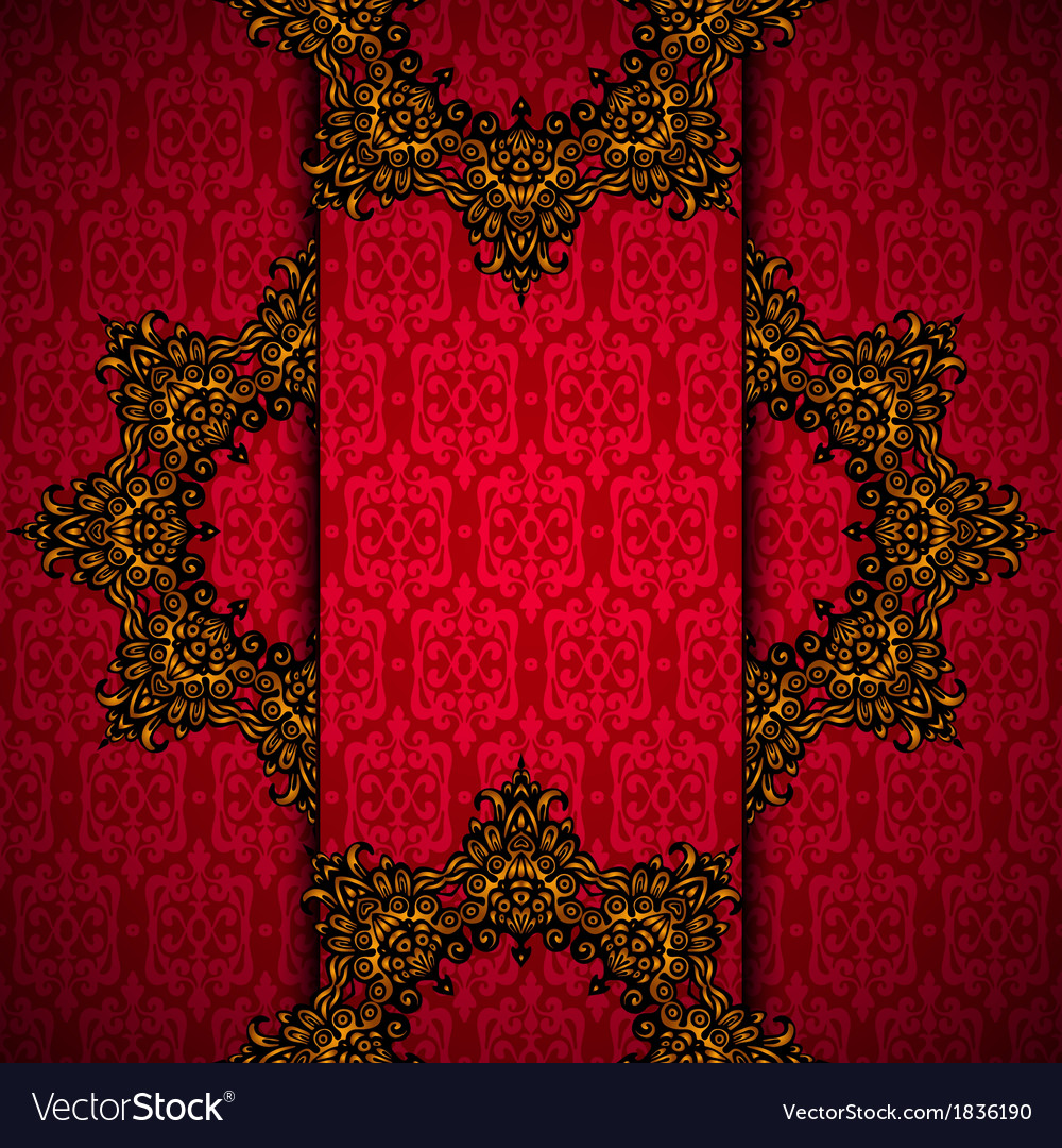 Golden luxury medallion red card vector | Price: 1 Credit (USD $1)