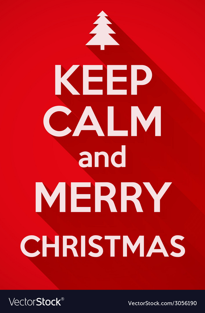Keep calm and merry christmas background card or vector | Price: 1 Credit (USD $1)