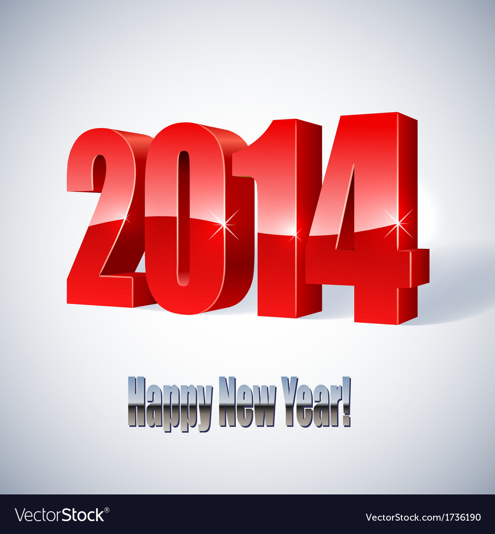 New 2014 year glossy figures vector | Price: 1 Credit (USD $1)
