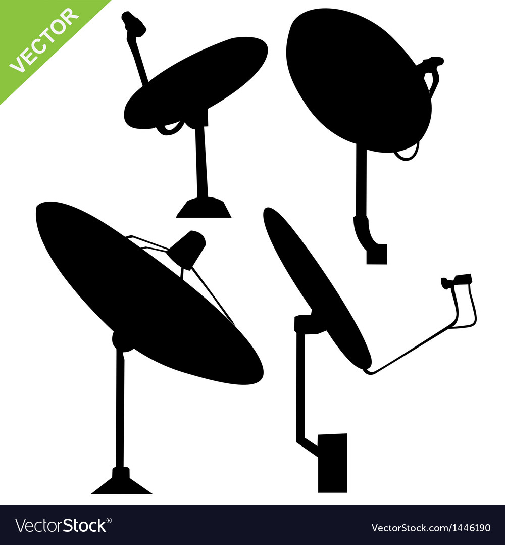 Satellite dish silhouette vector | Price: 1 Credit (USD $1)