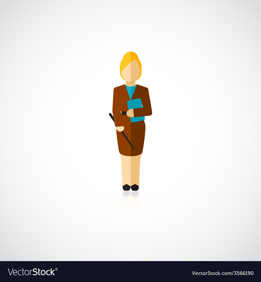 Teacher avatar flat vector | Price: 1 Credit (USD $1)