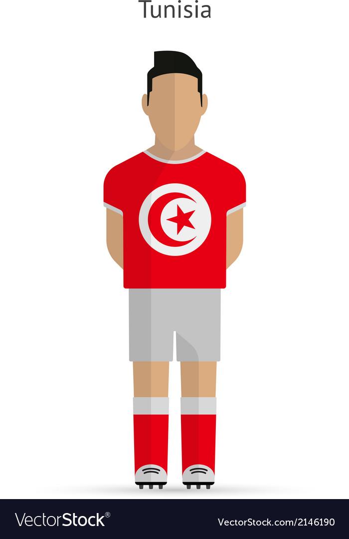 Tunisia football player soccer uniform vector | Price: 1 Credit (USD $1)