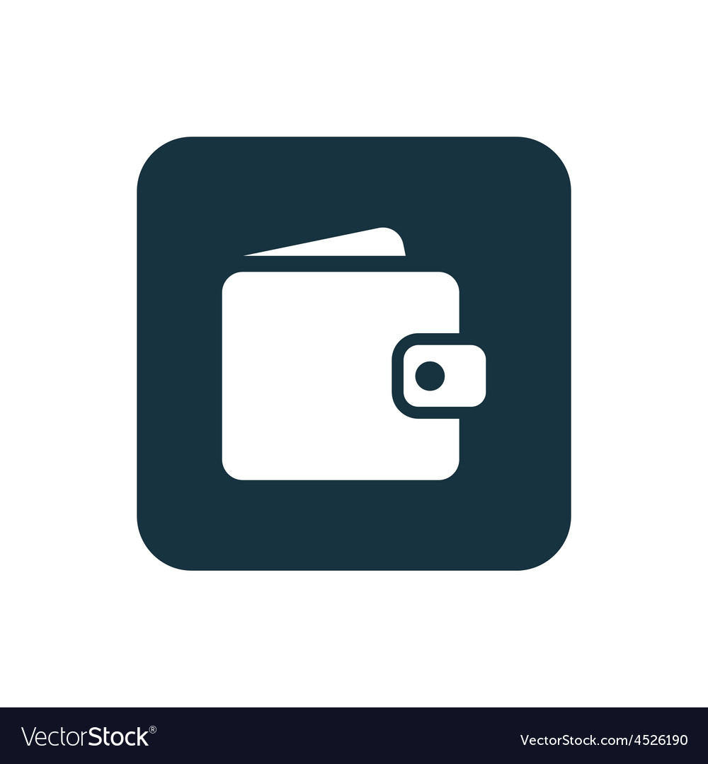 Wallet icon rounded squares button vector | Price: 1 Credit (USD $1)