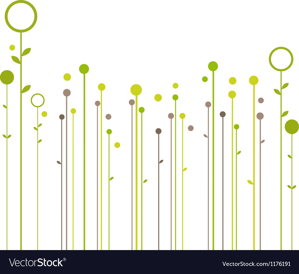 Abstract spring floral background vector | Price: 1 Credit (USD $1)