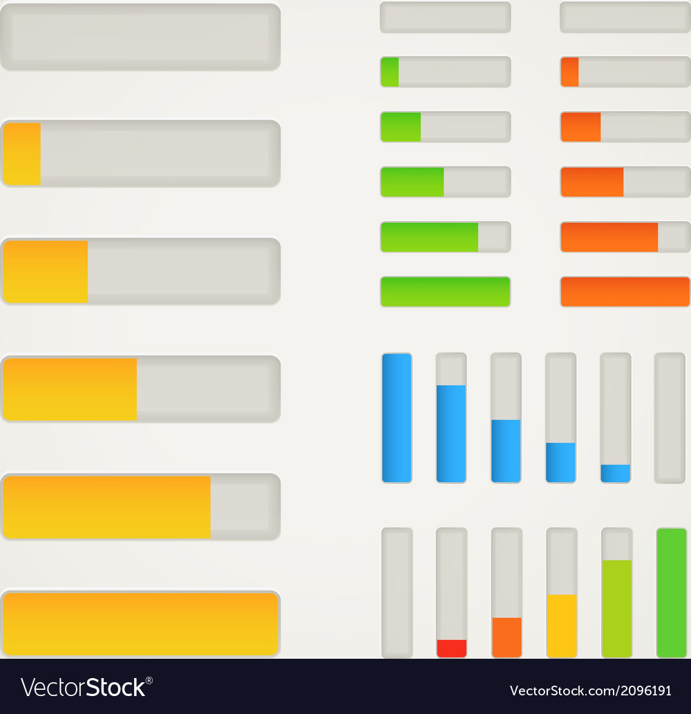 Charge bar collection vector | Price: 1 Credit (USD $1)