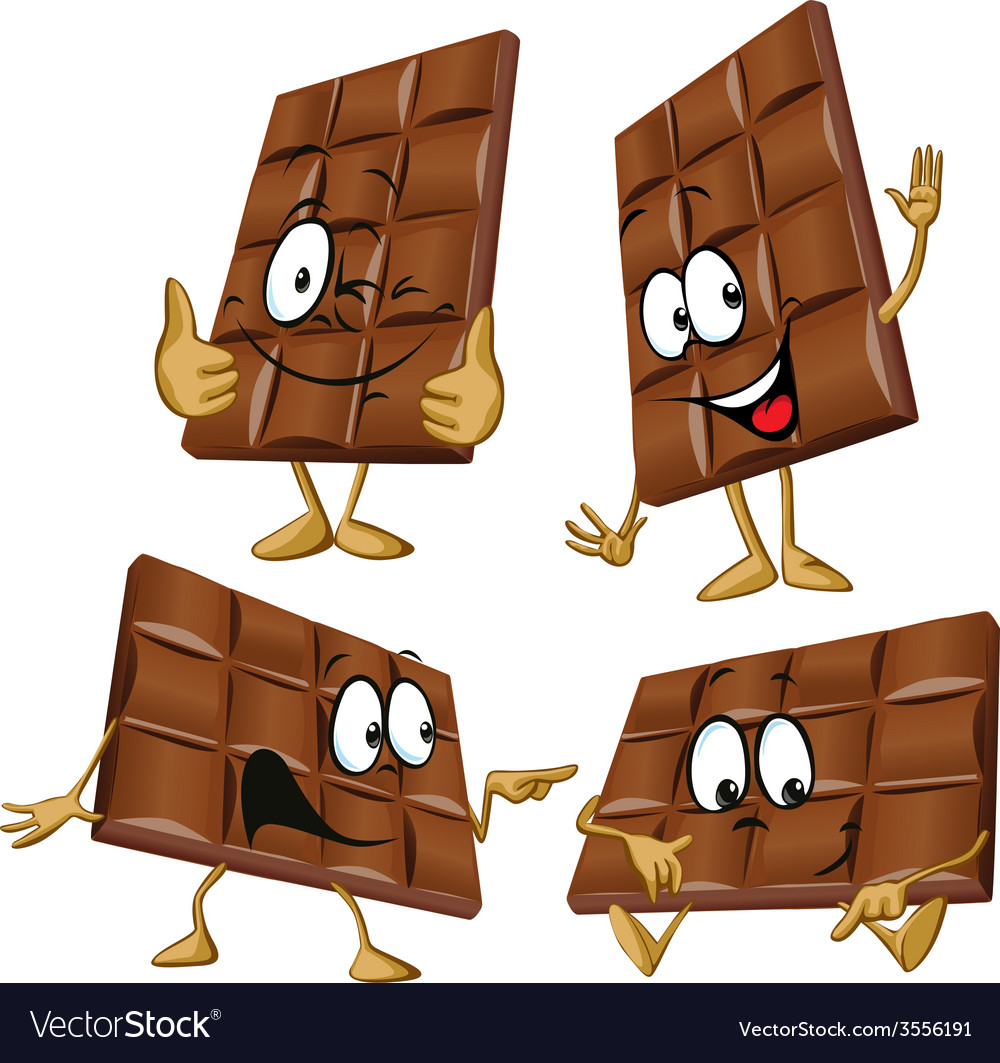 Chocolate cartoon with hand gesturing vector | Price: 1 Credit (USD $1)