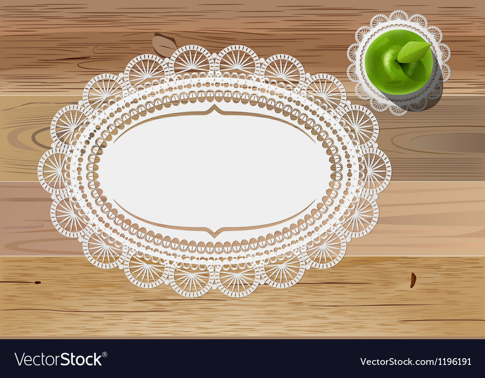Doily mats and apple vector | Price: 1 Credit (USD $1)
