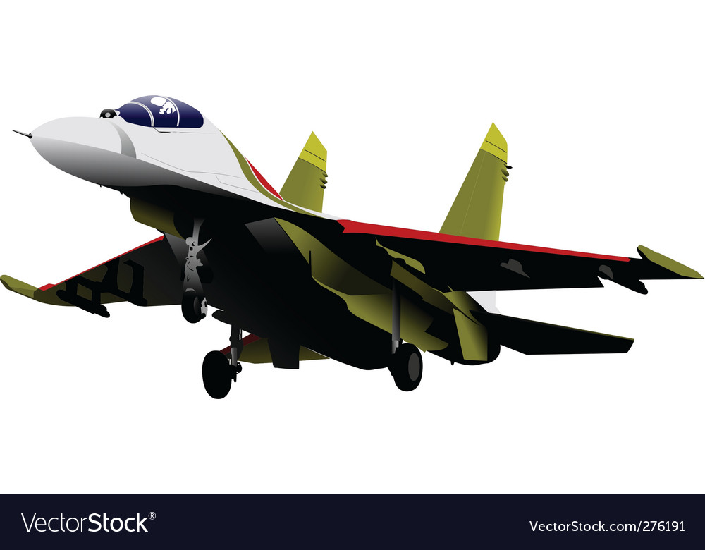 Fighter jet vector | Price: 1 Credit (USD $1)