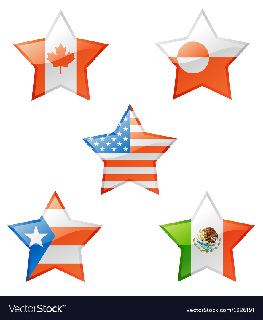 Flags star vector | Price: 1 Credit (USD $1)