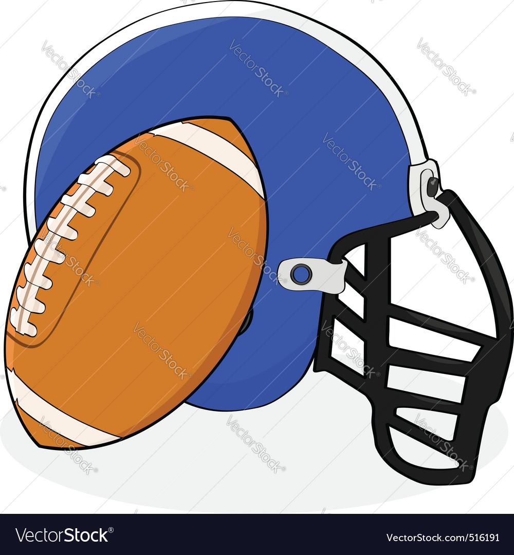 Football and helmet vector   Price: 1 Credit (USD $1)