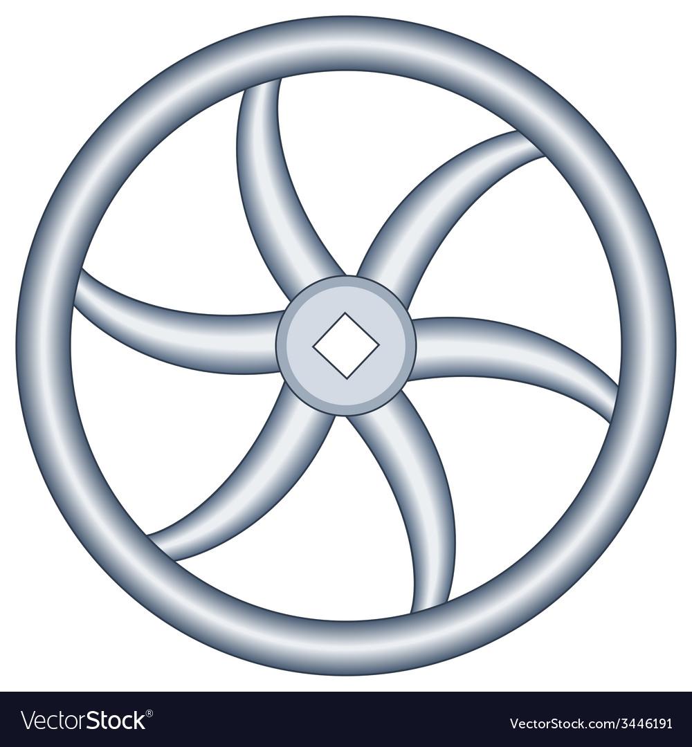 Handwheel vector | Price: 1 Credit (USD $1)