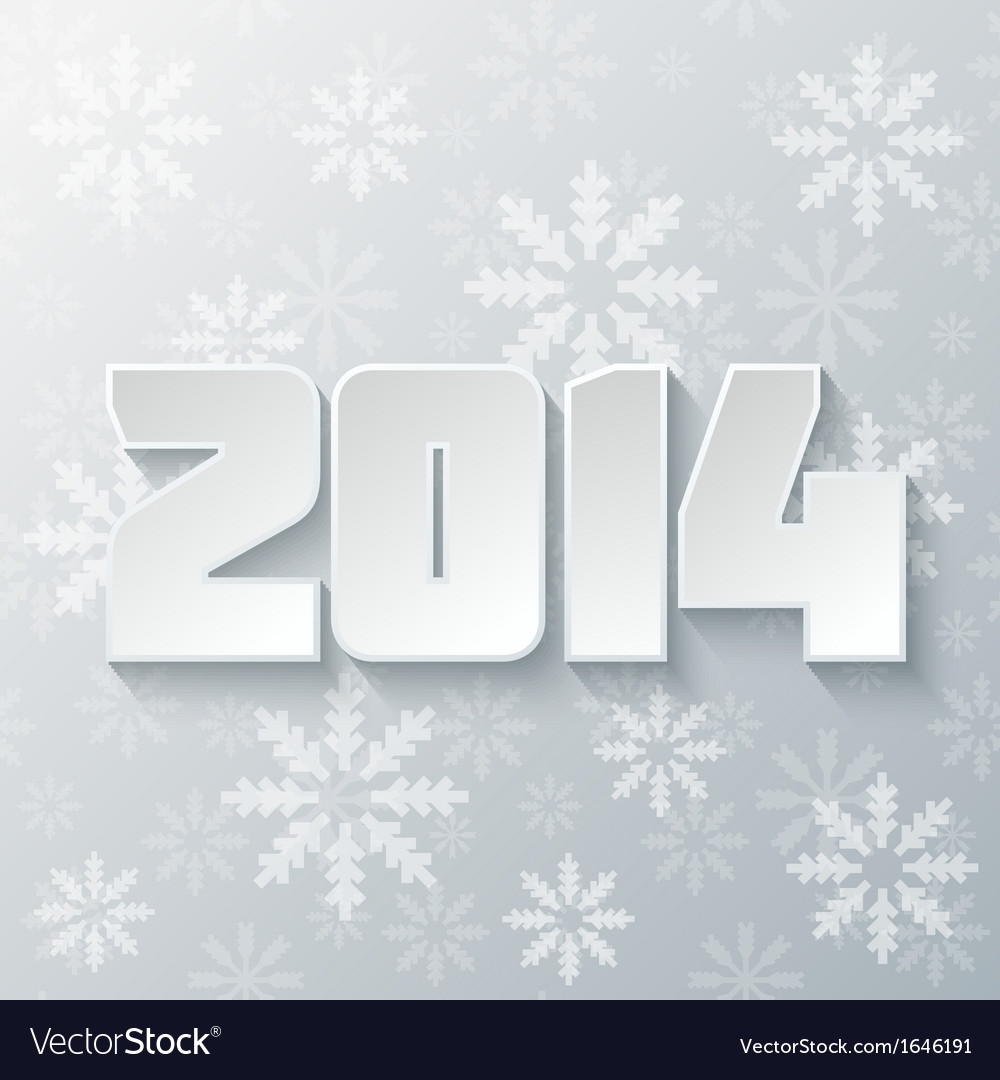 Happy new year 2014 design vector | Price: 1 Credit (USD $1)