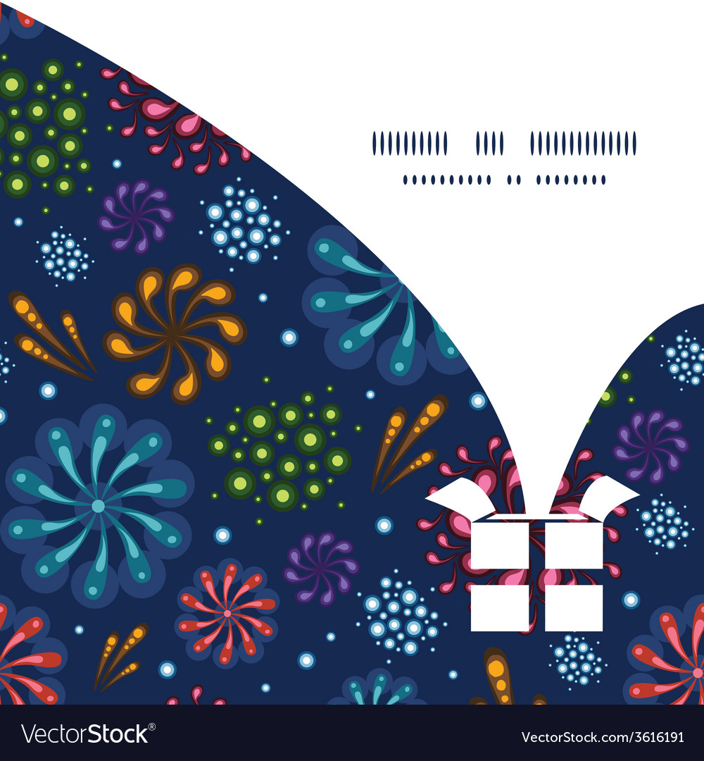 Holiday fireworks christmas gift box silhouette vector | Price: 1 Credit (USD $1)