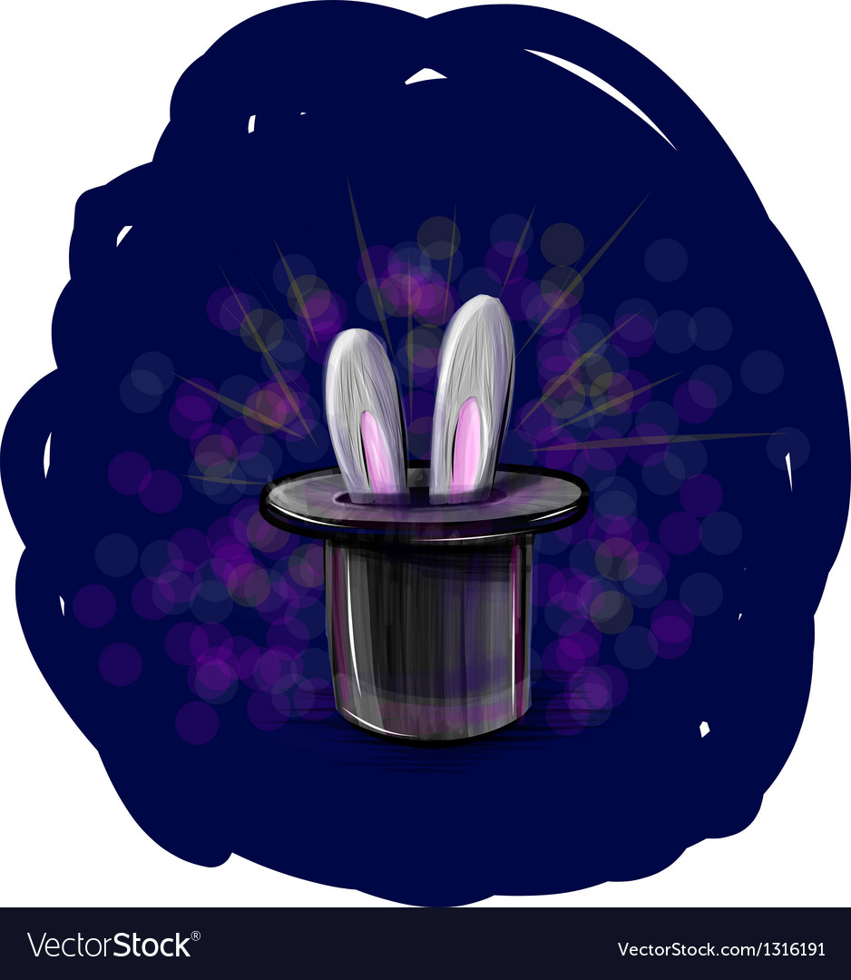 Magic hat with bunny ears vector | Price: 3 Credit (USD $3)